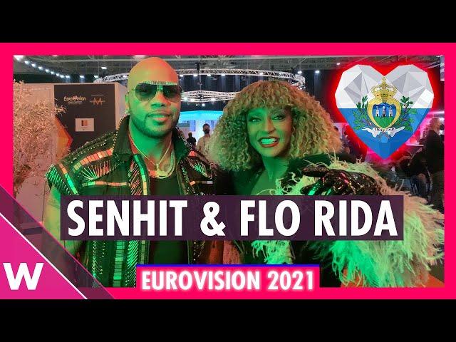 Flo Rida & Senhit (San Marino)   Backstage at Eurovision 2021