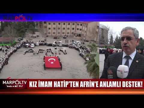 KIZ İMAM HATİP'TEN AFRİN'E ANLAMLI DESTEK!