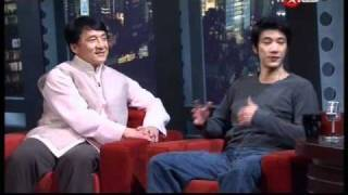 Leehom with Jackie Chan on Asia Uncut