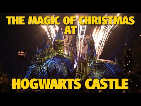 The Magic of Christmas at Hogwarts Castle BEST VIEW | Universal Orlando
