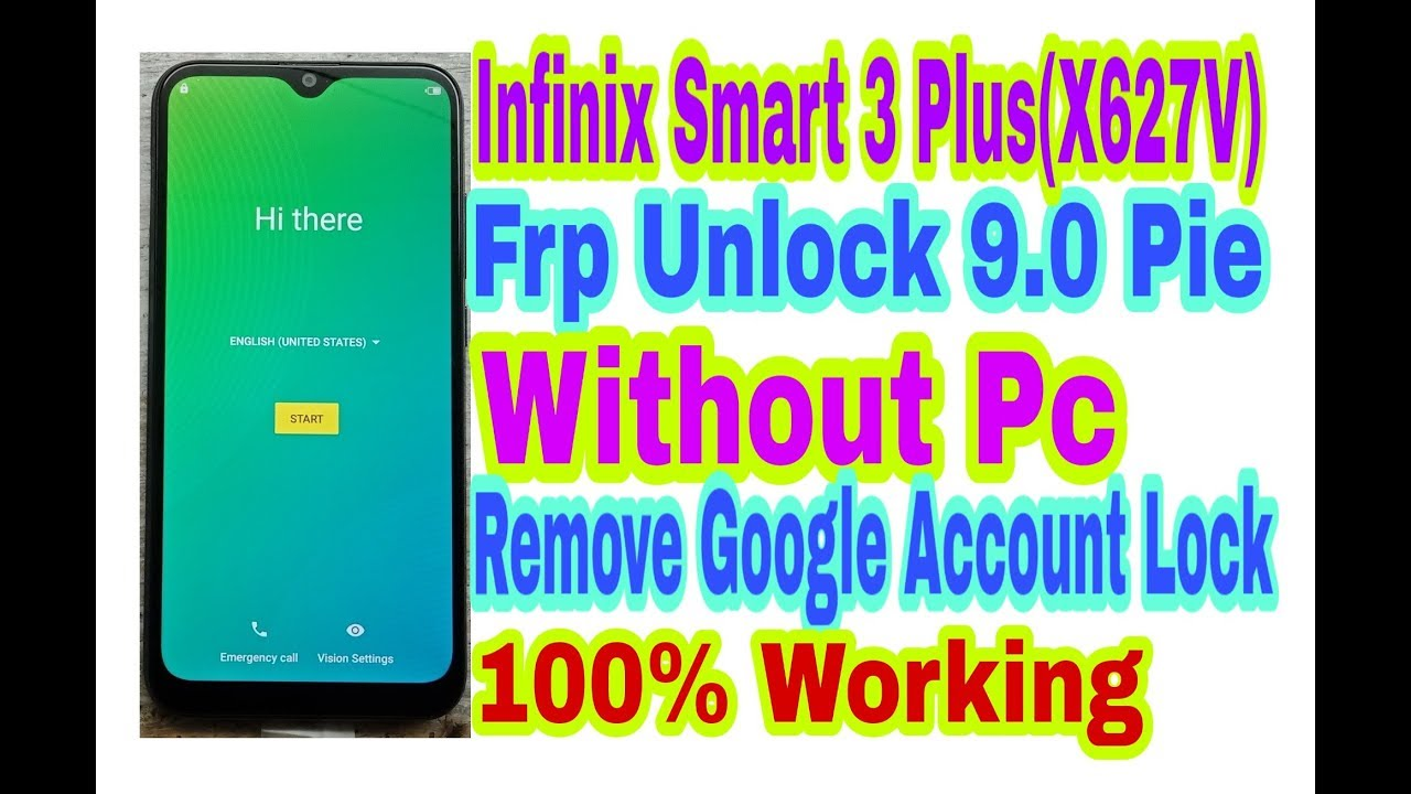 Infinix All Mobile 9 0 Frp Unlock Without Pc|| Infinix Smart 3  Plus(X627V)Bypass Google Account Lock