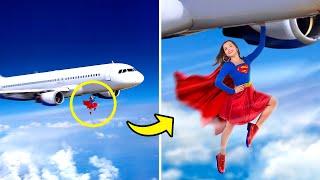 15 طريقة لتمرير الأبطال الخارقين جوا الطيارة!