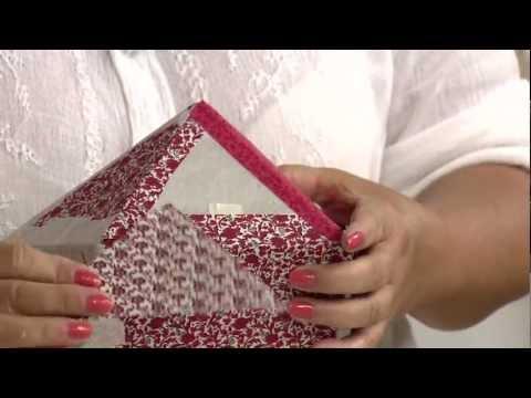 Aprenda Fazer Uma Linda Caixa Patch Box Cartonagem