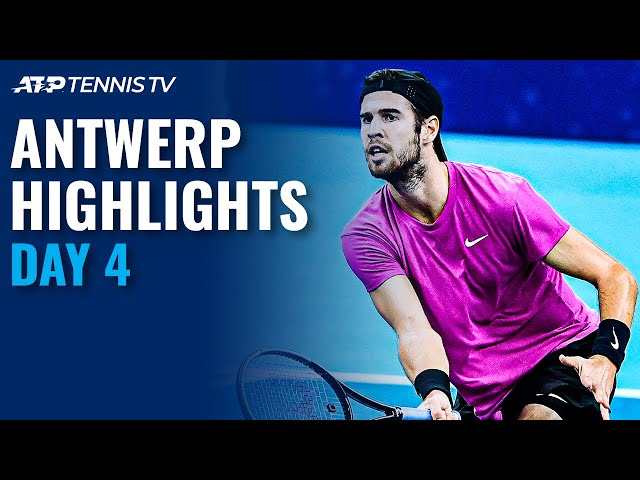 Goffin Upset by Giron; Khachanov Overcomes Bergs | Antwerp 2020 Day 4 Highlights