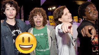 Stranger Things Cast - TRY NOT TO LAUGH😊😊😊 - Best Funniest Moments 2017 #4