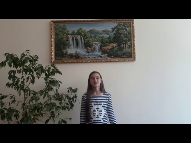 Изображение предпросмотра прочтения – АлисаПотапова читает отрывок изпроизведения «Русь» С.А.Есенина