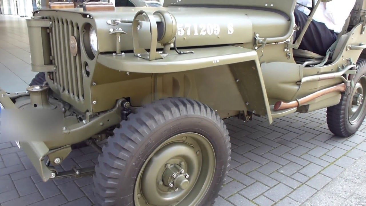 Jeep mb jeep : 1944 WW2 Willys MB Jeep Start Up and Sound 2.2 60 hp 100 Km/h 62 ...