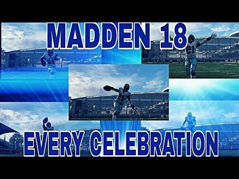 EVERY SINGLE CELEBRATION IN MADDEN 18!! MADDEN 18