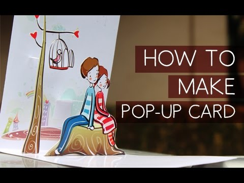 POP UP Valentines Greeting Diy YouTube - How to make a pop up birthday invitation