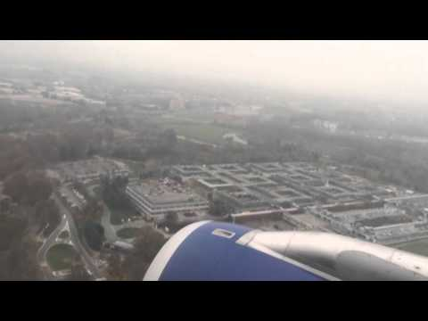 Landing at Linate Airport Milan