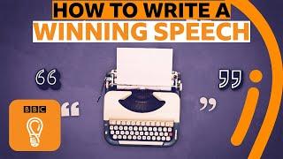How to write a perfect speech | BBC Ideas