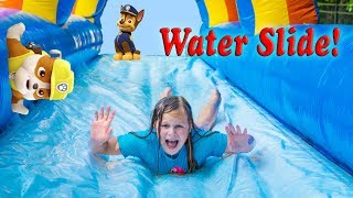 Assistant Inflatable Bounce House Slip n Slide with Orbeez and Squishies and Paw Patrol