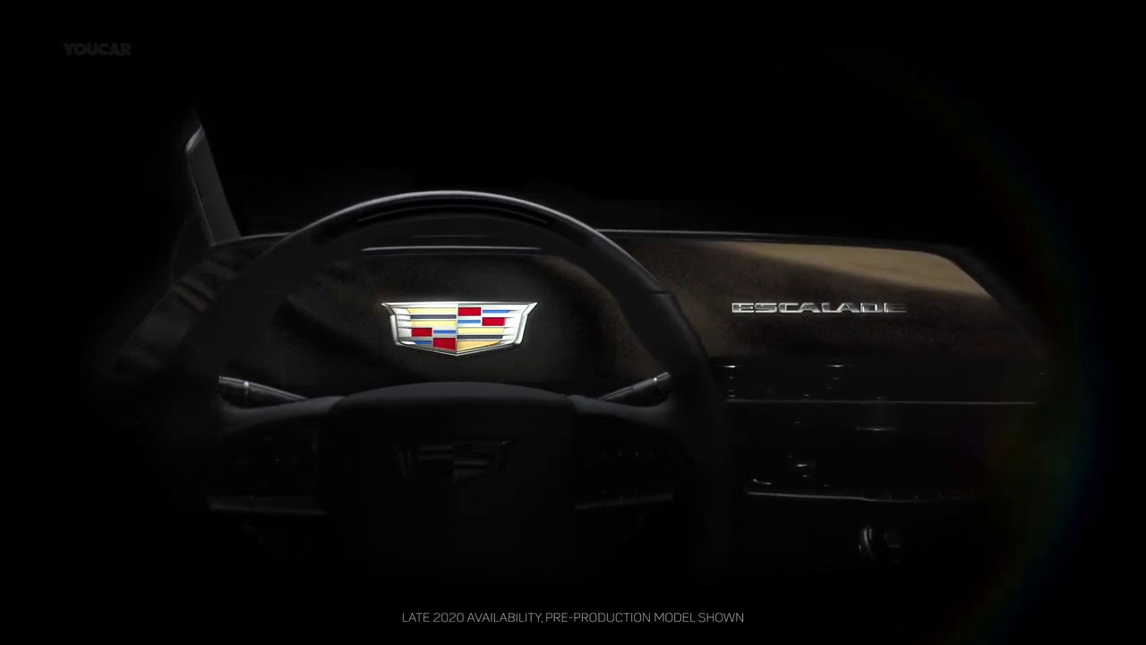 2021 cadillac escalade's giant 30inch curved oled screen
