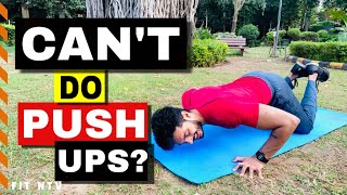 HOW TO LEARN PUSH UPS EASILY  3 Steps to learn Push Ups MALE &amp FEMALE
