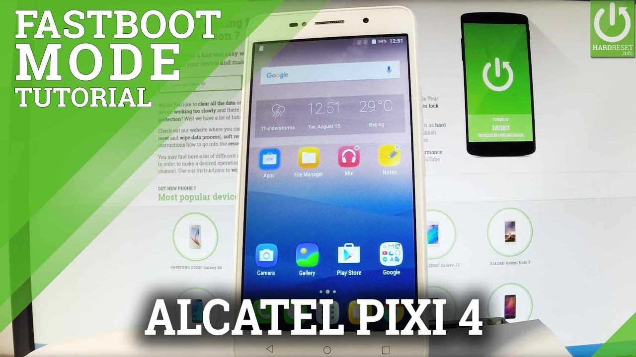 ALCATEL Pixi 4 Fastboot Mode / Enter & Quit ALCATEL Fastboot