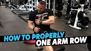 Why You Aren't Getting Results From Your Back Training - One Arm Cable Row