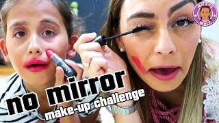 NO MIRROR Schmink Challenge - Beauty oder Beast - was kommt raus?? | Mileys Welt