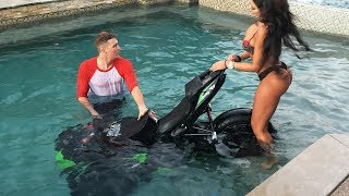⚡️ Epic Motorcycle Stunt Fails 2017 | Bike in a pool? 😳