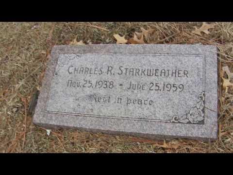 Grave of Charles Starkweather  Nebraskas Mass Murderer   Wyuka Cemetary  Lincoln Nebraska