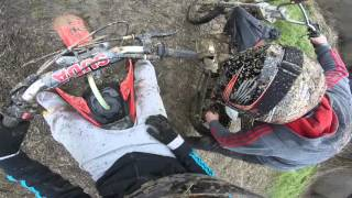 Pit bikes mudding in the fields! !