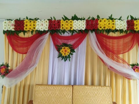 Bridal Stage Decoration Ideas With Flowers | Wedding Stage Decoration Ideas With Flowers