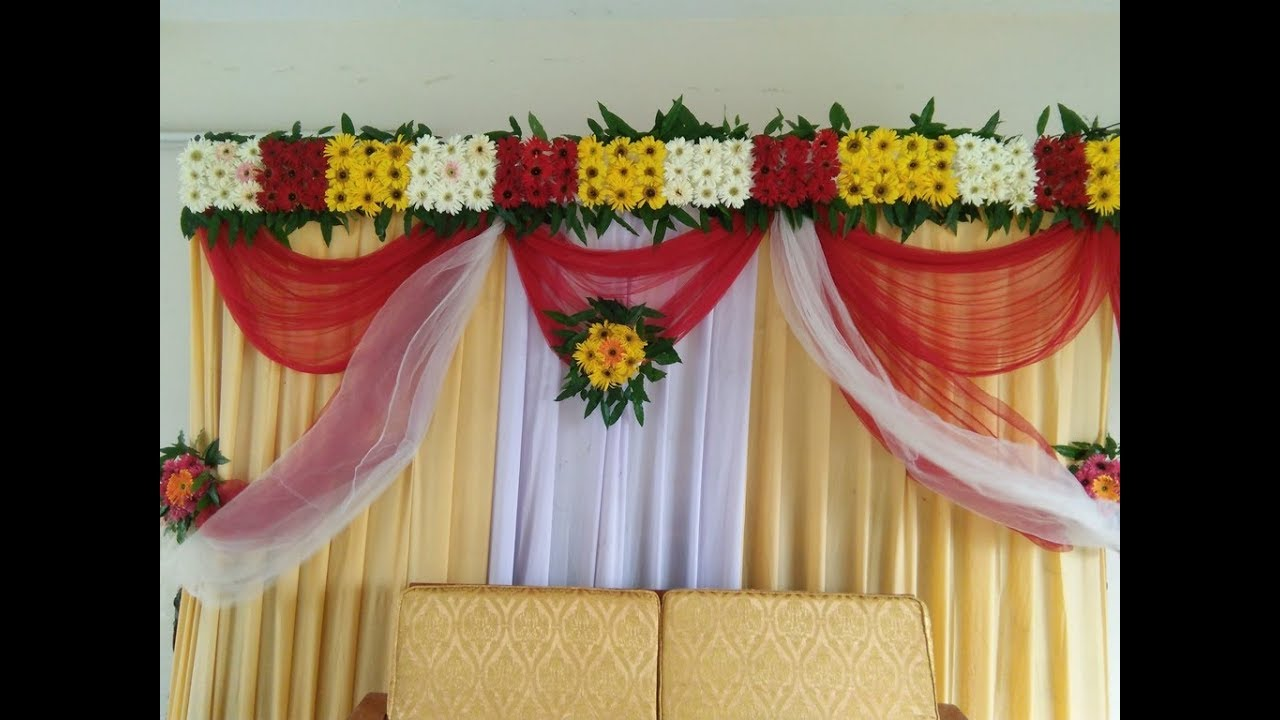 Bridal Stage Decoration Ideas With Flowers Wedding Stage Decoration Ideas With Flowers Youtube