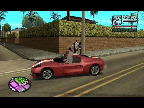GTA San Andreas: Aim and shoot from car while driving