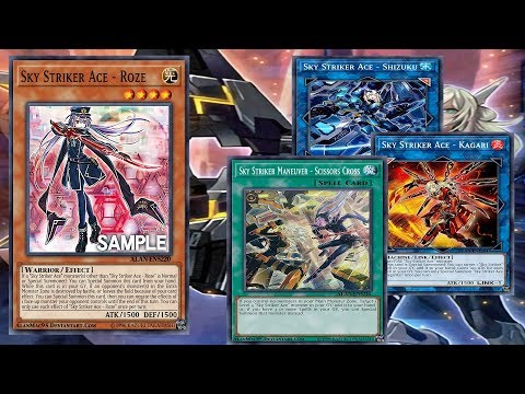 Yu Gi Oh Sky Striker Ace Roze Sky Striker Maneuver Scissors Cross Deck Sky Striker Youtube