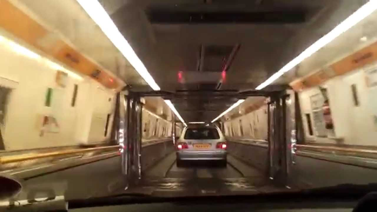 Dover Calais Tunnel >> Boarding Eurotunnel train Channel tunnel - YouTube