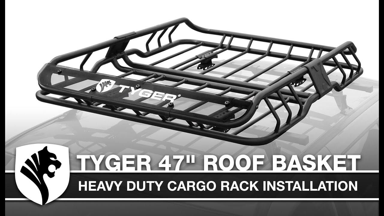tyger heavy duty roof cargo basket installation