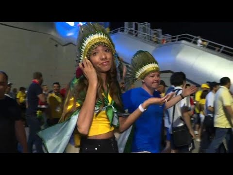 World Cup: Elated Belgium, deflated Brazil fans leave stadium