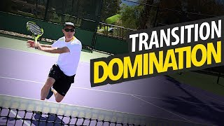 Transition Game Footwork for Better Balance & Volley Control - tennis lesson