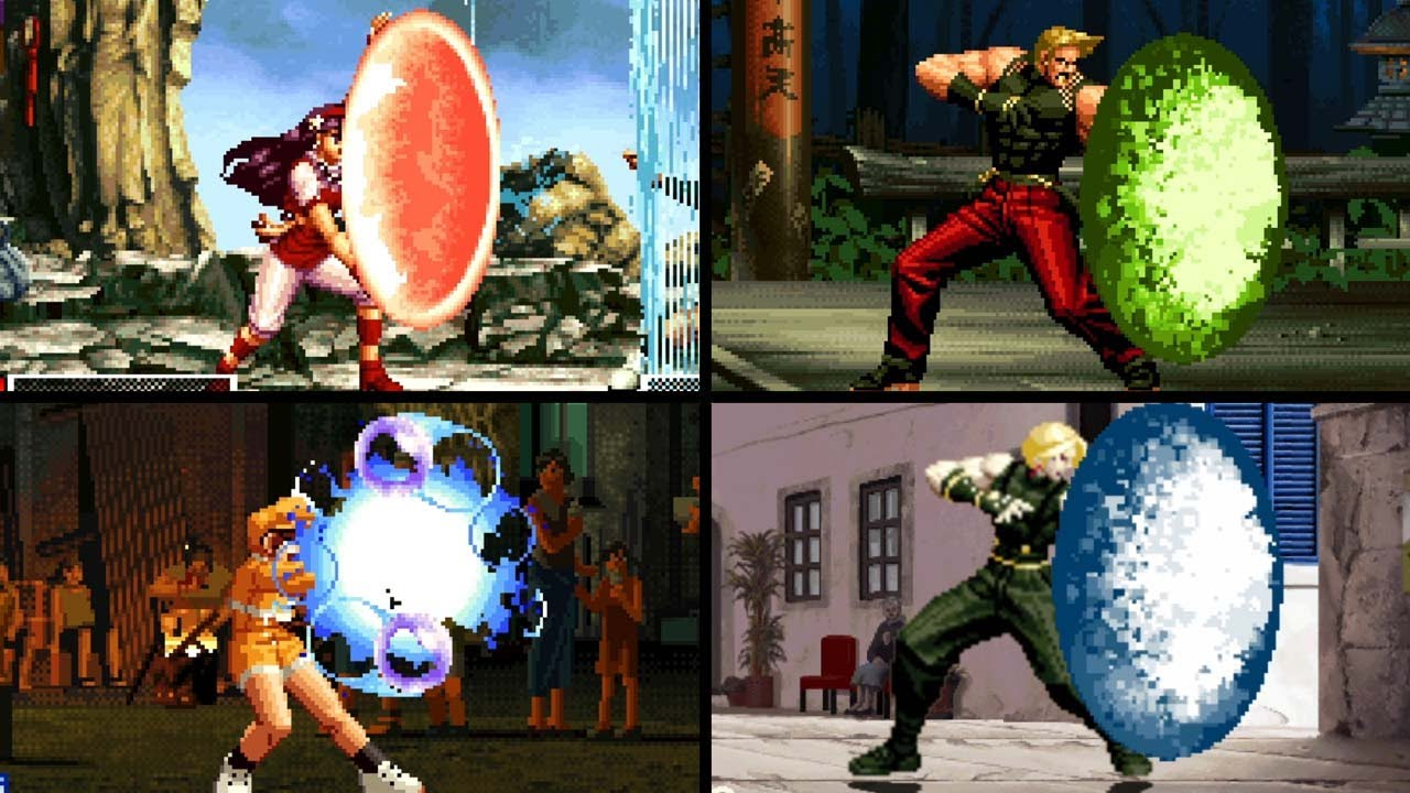 King of Fighter All Reflecting Fireballs