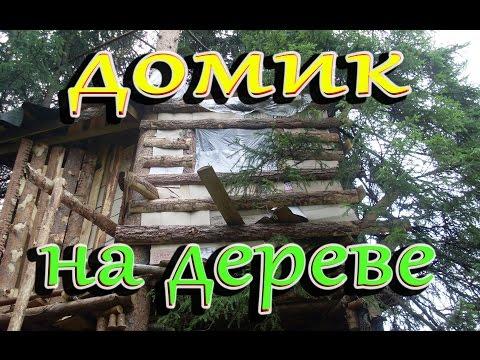 видео: Домик на дереве с двумя этажами, своими руками.