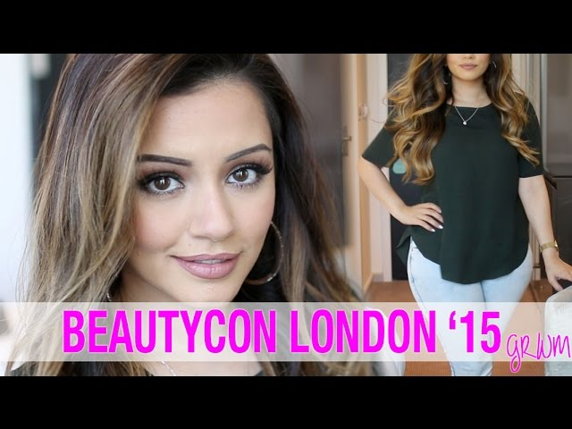 GRWM | Warm Smokey Eye GRWM for BeautyCon London + Casual OOTD | Kaushal Beauty