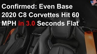 Chevy releases official 0–60 MPH, quarter-mile times for mid-engine Corvette