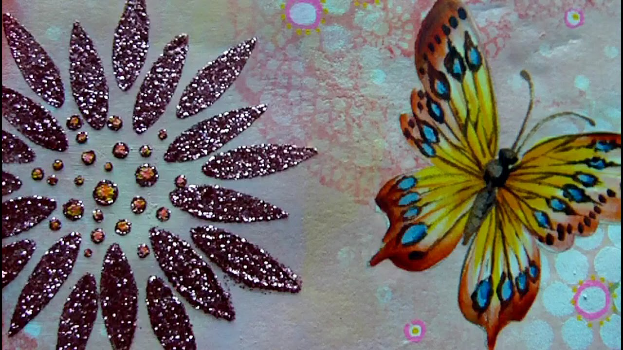 Mixed media art journal page for the love of art youtube
