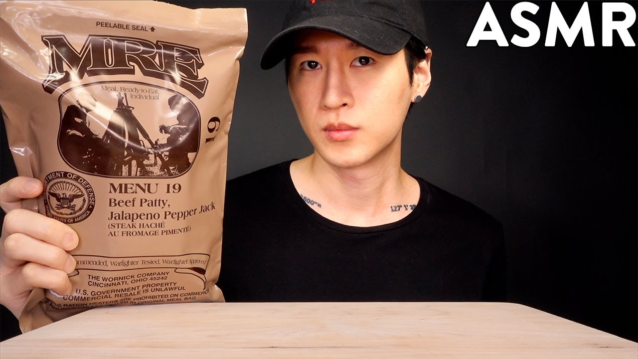 Download ASMR US MILITARY MRE Meal-Ready-to-Eat MUKBANG | Unboxing & Eating (No Talking) Zach Choi ASMR