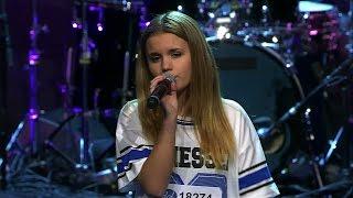 Emma Öhrn sjunger Grenade i solomomentet av Idols slutaudition - Idol Sverige (TV4)