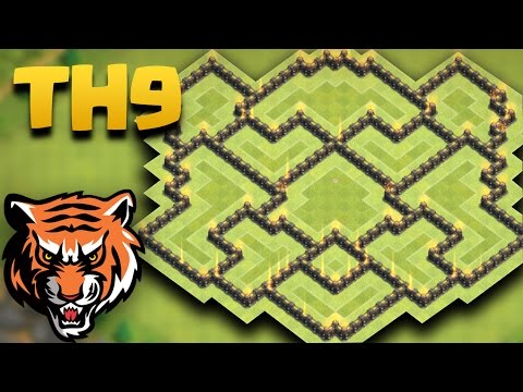 Town Hall 9 (TH9 The Tiger) Farming Base | Protecting Gold/Elixir Storages + Replays 2016