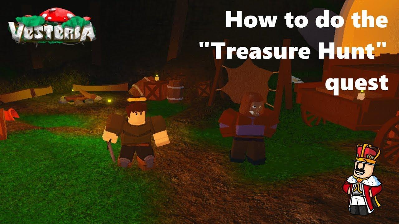 How To Do The Treasure Hunt Quest Vesteria Youtube