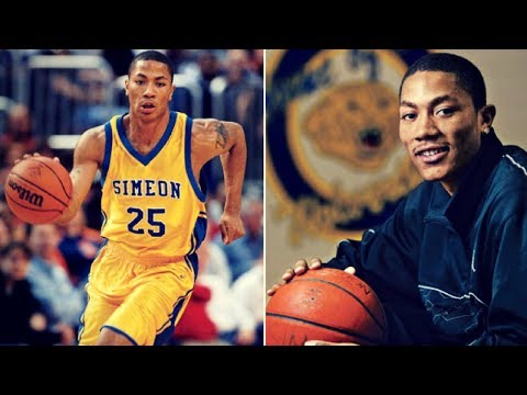 Derrick Rose - CRAZY High School Mixtape - Young And Athletic!