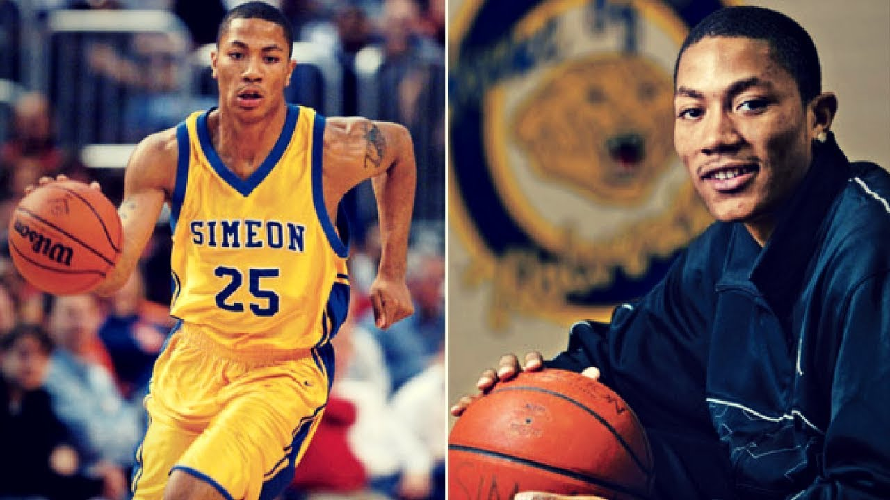 85a2345d0ab Derrick Rose - CRAZY High School Mixtape - Young And Athletic! - YouTube