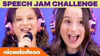 SPEECH JAM CHALLENGE w Annie &amp Hayley LeBlanc  Nick
