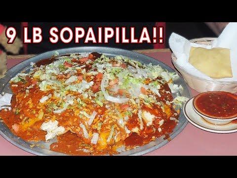 9lb New Mexican Stuffed Sopaipilla Challenge in Albuquerque!!