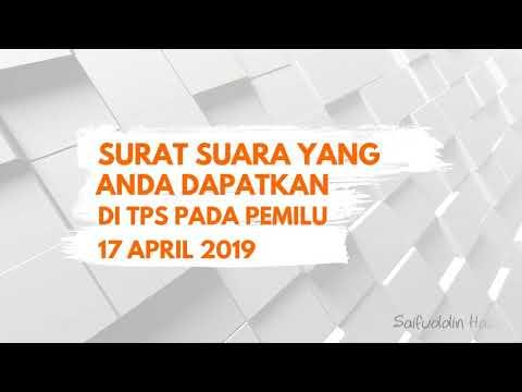 cara memilih caleg DPR Aceh Pada Pemilu 17 April 2019