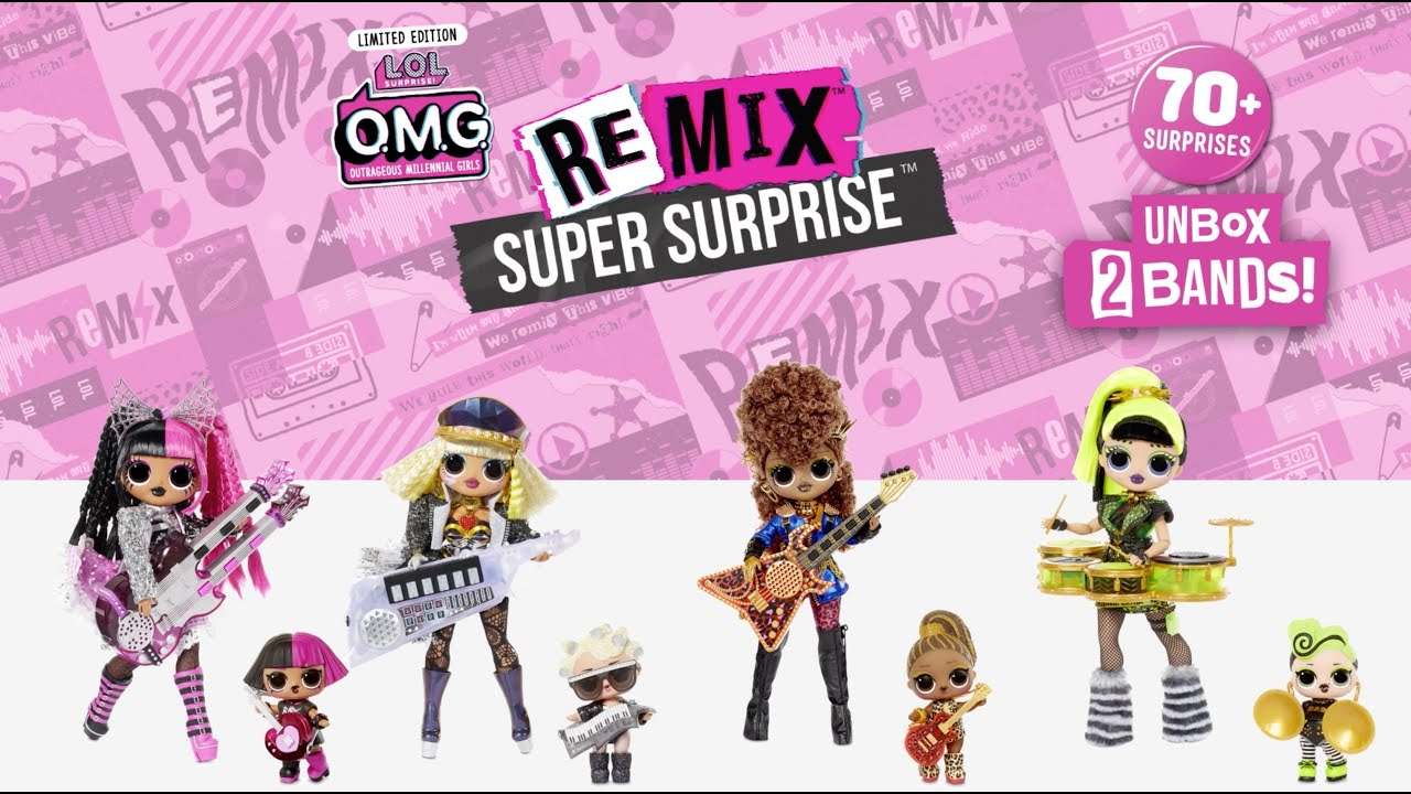 LOL Surprise OMG Super Surprise Remix 4 Fashion Dolls /&Sisters Surprises 70