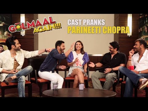 Golmaal Team's HILARIOUS PRANK on Parineeti Chopra | Golmaal Again