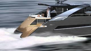 Power Catamaran Concept eCat hybrid by Juri Karinen