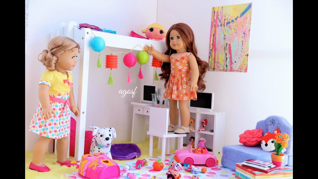 American Girl Dollhouse Room Youtube